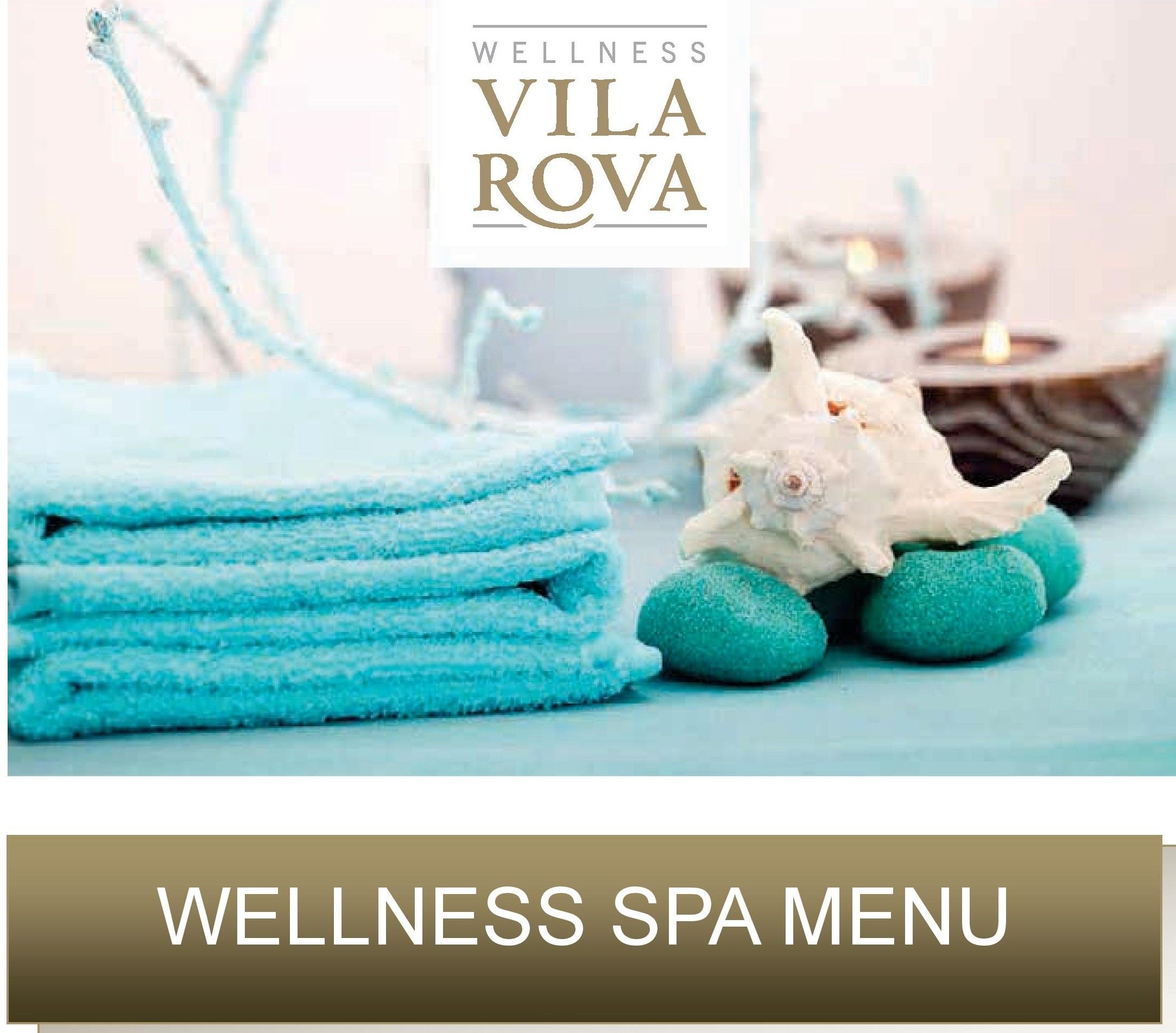 Wellness spa menu